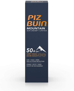 Piz Buin Face Suncream Spf 50+ and Lipstick Spf 30, 20ml