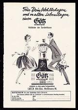 3w2031/ Alte Reklame von 1960 - Götz von Berlichingen - Halbbitter