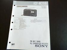 Original Service Manual   Sony ICF-M200