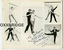 THE McANANYY'S SIGNED PHOTO Vaudeville Dance Duo 1960 Circus Show Couple