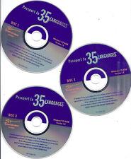 Passport to 35 Languages 3 CD -French Spanish Chinese Korean Japanese Italian...