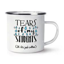 Lágrimas De Mi Estudiantes Café Retro Esmalte Taza - Profesor Graciosa Acampar