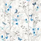 Muriva 102552 Novelties Eden Wallpaper Roll - Blue