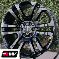 "22 inch Chevy Tahoe CK158 OE Replica Wheels Gloss Black Rims 22 x9"" 6x139.7"