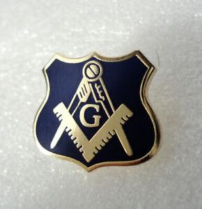 Pre-Owned Freemason Masonic Shield Geometry Square Compass pin badge #s1