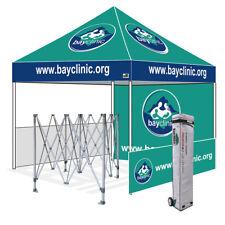 Custom Logo Printed 10X10 Outdoor EZ Pop Up Canopy Gazebo Trade Show Booth Tent