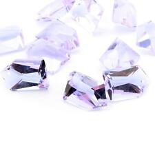 (11) 30mm Czech vtg alexandrite pentagon geometric pendant glass beads prisms