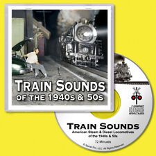 Train Sounds CD Steam & Diesel Locomotives for S Scale Model Railroads