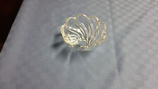 Vintage Clear Swirl Glass Candy Dish with Scalloped Edge