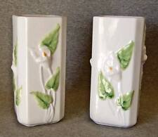 """Loucarte Portugal vases (2) calla lily detail all sides~7"""""""