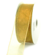 Sheer Chiffon Ribbon Wired Edge, 1-1/2-inch, 25-yard