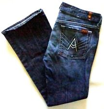 7 For All Mankind Jeans Womens A Pocket Blue Denim Size 32