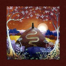 PAGAN WICCAN GREETING CARD Solstice Moon GODDESS GLASTONBURY AMANDA CLARK