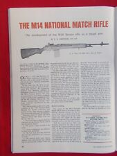 Vintage 1966 4pp art. #5b for The M14 National Match Rifle target shooting