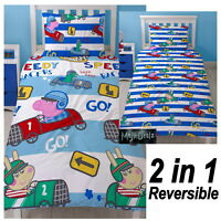 PEPPA PIG GEORGE DUVET COVER SET NEW REVERSIBLE SPEED DESIGN