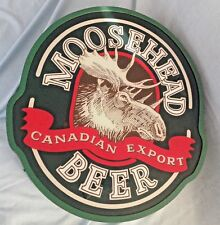 VINTAGE RARE 'MOOSEHEAD BEER'  CANADIAN EXPORT LARGE BULKHEAD STYLE WALL LIGHT