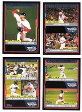 Red Sox 2005 Topps World Series Champions Black David Ortiz Pedro Martinez /54