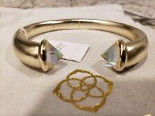 Kendra Scott Jolie Cuff Bracelet Gold Dichroic Glass  NWT $88   KS Pouch