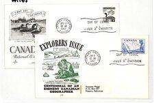AT103 1957 Canada *OTTAWA* Ontario FDC FDI Cover x2 Bahamas {samwells-covers}PTS