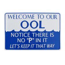 No P Pee in Ool Funny Tin Metal Swimming Pool Sign Hot Tub Spa Swim Deck Decor