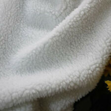 "white sherpa fleece fabric berber fleece lamb fur fabric lining cloth 60"" BTY"
