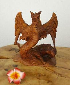 Drachen aus Teakholz, ca. 15cm