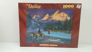 Vintage 1000 pc COMING HOME Hermon Adams The Gallery Art Puzzle Native American