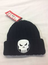 Marvel Beanie Cap Punisher Logo Black Hat