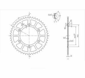 Bike Master Rear Steel Sprockets 50T 520 240 897 50
