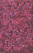 Hot Pink Crocodile Batik Quilt Fabric - 1 Yard