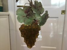 Vintage Art Nouveau Murano Czech Glass Grape Cluster Fruit Figural Chandelier