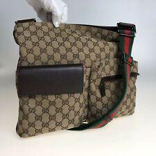 GUCCI GG canvas shoulder bag messenger bag 169937 Used 1116-11Z86