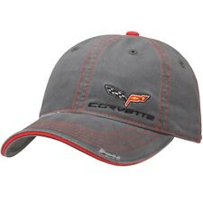 C6 Corvette Washed Distressed Gray Cotton Hat