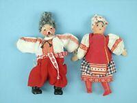RARE Vintage Russian Nikolai Gogol Chub PAIR OF DOLLS w/ BOX Russia