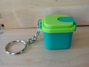 Boîte signature verte Tupperware miniature (Porte clés Tupperware - keychain)