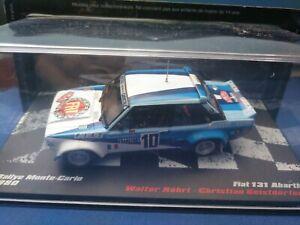 COCHE 1/43, ALTAYA, MODELO FIAT 131 ABARTH RALLY MONTE CARLO 1980.