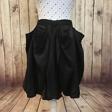 RACHEL GILBERT Size 3 Size M / L Skirt Silk Black Dressy Cocktail Party BNWT