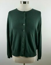 United Colors of Benetton Womens Wool Angora Ls Green Cardigan Large Italy Made