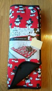 Mickey Mouse Drying Mats 2 Pack Disney Red Black Minnie NEW NIP NWT