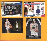 STEPHEN CURRY GAME USED JERSEY + 2015 PANINI NATIONAL VIP CHROME CARD + PATCH