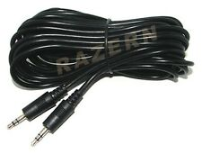 10-pack 25 ft 1/8 3.5mm male mini plug audio cable M to M
