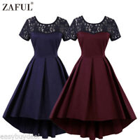 Women's 1950's Retro Rockabilly Vintage Style Floral Evening Party Swing Dress