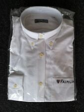 Deluxe Fairline Heavy Oxford Long Sleeve Shirt with logo Size 10 - rrp £49.99
