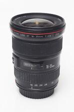 Canon 16-35mm f/2.8 Super-wide L-Series Lens w/caps, hood