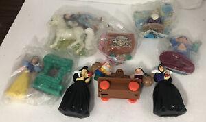 Set of 8 Disney Snow White Seven Dwarfs Happy Meal Toys 1992 McDonalds 5 new