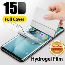 For Samsung Note 9 S10 Note 10 S9 Soft Screen Protector Hydrogel Film Full Cover