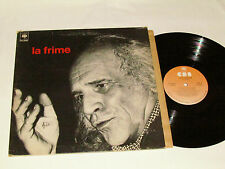 LEO FERRE La Frime LP 1977 (Ferré) CBS Records Quebec French Album VG/VG Gatefld