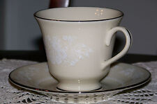 Lenox USA - Snow Flower - Full-sized Cup and Saucer Set - Near Mint