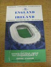 20/11/1963 England v Northern Ireland [At Wembley] (folded, slight mark on front