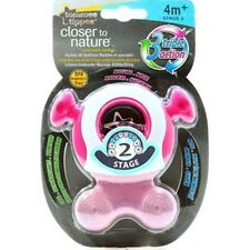 Tommee Tippee Closer To Nature Easy Reach Teether Stage 2 (PINK)